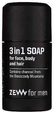 3in1 Naturseife für Gesicht, Körper und Haar - Zew For Men 3 in 1 Soap For Face Body And Hair — Bild N1