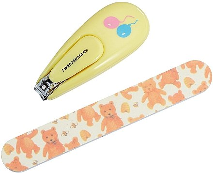 Nagelknipser und Nagelfeile für Kinder 3065-R - Tweezerman Baby Nail Clipper With Bear File — Bild N1