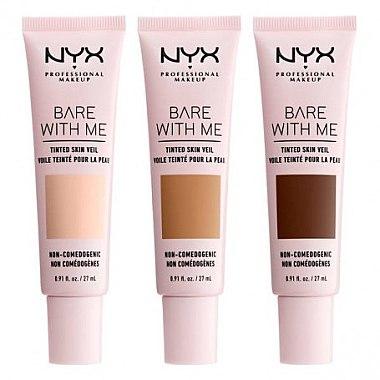 Flüssige Foundation mit Active Light-Technologie und SPF 10 - NYX Professional Bare With Me Tinted Skin Veil — Bild N2