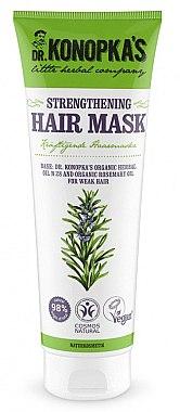 Stärkende Haarmaske für schwaches Haar mit Hanf- und Rosmarinöl - Dr. Konopka's Strengthening Hair Mask — Bild N1