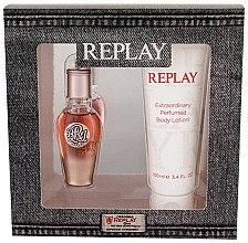 Düfte, Parfümerie und Kosmetik Replay True Replay For Her - Kosmetikset (Eau de Parfum/20ml+Körperlotion/100ml)