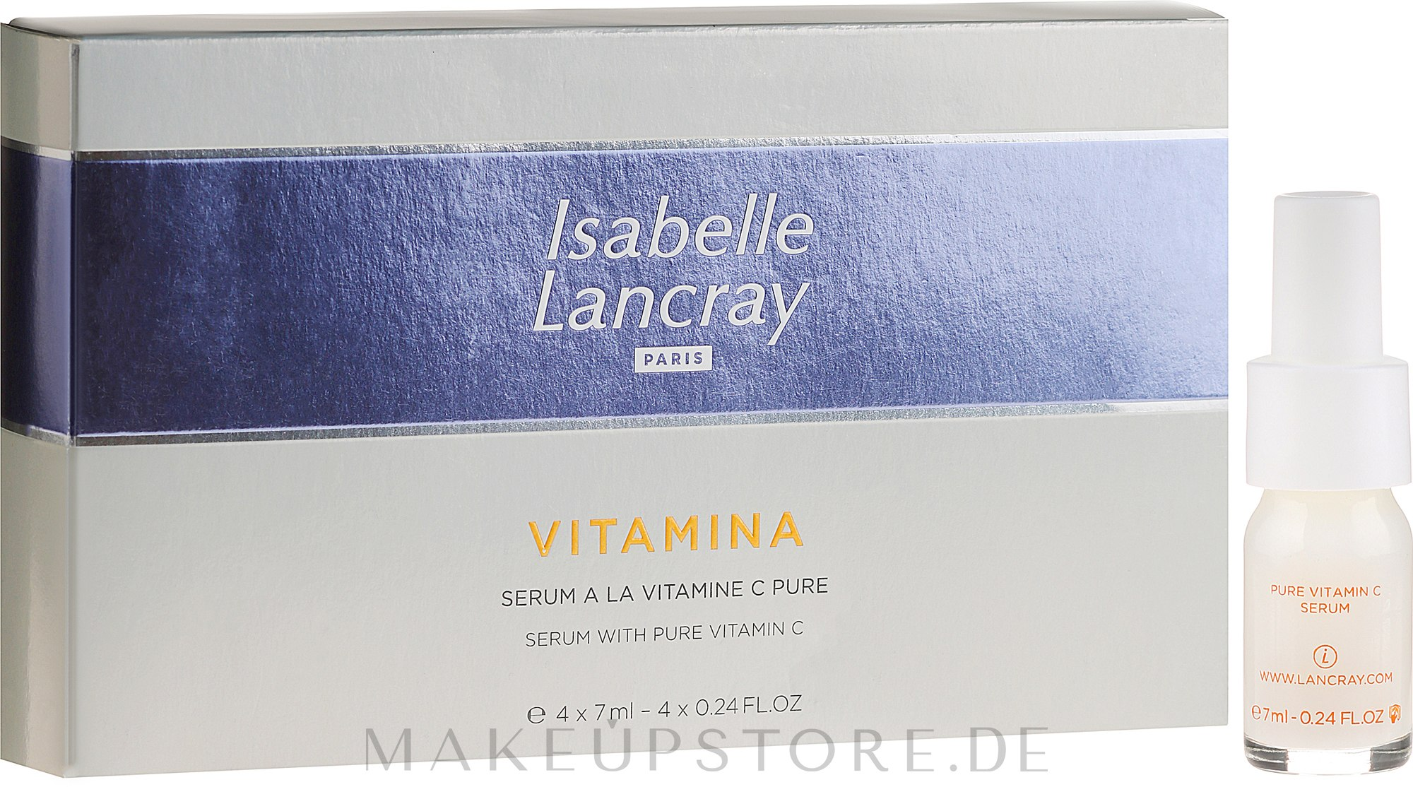 Regenerierendes Gesichtsserum mit Vitamin C - Isabelle Lancray Vitamina Serum With Pure Vitamin C — Bild 4x7 ml