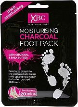 Düfte, Parfümerie und Kosmetik Feuchtigkeitsspendende Fußmaske in Socken - Xpel Marketing Ltd Body Care Moisturising Charcoal Foot Pack