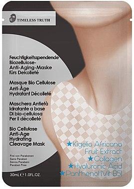 Feuchtigkeitsspendende Anti-Aging Dekolletémaske mit Bio Cellulose - Timeless Truth Bio Cellulose Anti-Age Hydrating Cleavage Mask — Bild N1