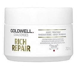 Düfte, Parfümerie und Kosmetik Regenerierende Maske für geschädigtes Haar - Goldwell Dualsenses Rich Repair 60sec Treatment