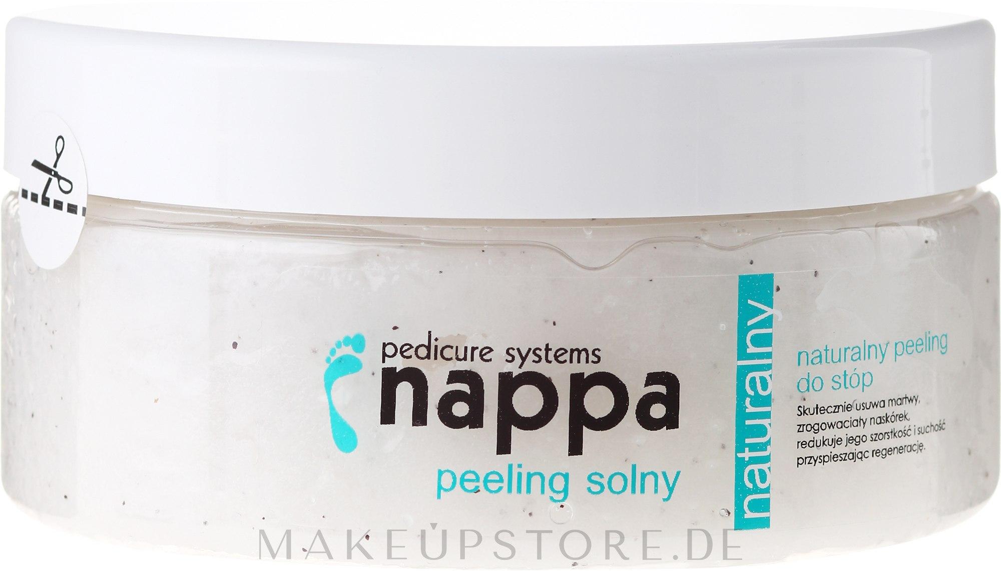 Fußpeeling mit natürlichem Salz - Silcare Nappa Natural Salt Foot Scrub — Bild 300 ml