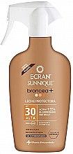 Düfte, Parfümerie und Kosmetik Sonnenschutzspray mit Bronzer SPF 30 - Ecran Sunnique Broncea+ Spf30