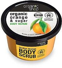 Düfte, Parfümerie und Kosmetik Körperpeeling mit Bio Orangenöl und braunem Zucker - Organic Shop Body Scrub Organic Orange & Sugar