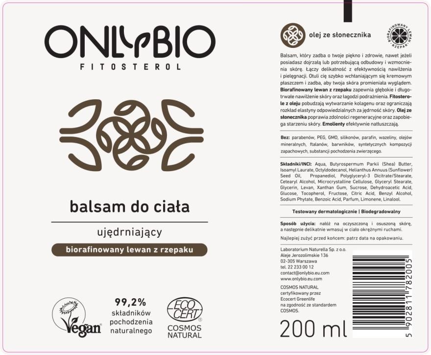 Straffender Körperbalsam - Only Bio Fitosterol Tuba — Bild N2