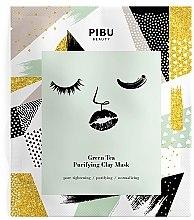 Düfte, Parfümerie und Kosmetik Reinigende Tuchmaske mit grünem Tee und Tonerde - Pibu Beauty Green Tea Purifying Clay Mask