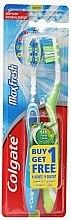 Düfte, Parfümerie und Kosmetik Zahnbürste mittel Max Fresh blau, grün 2 St. - Colgate Max Fresh Medium