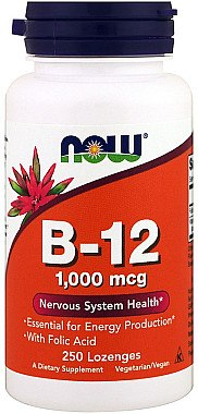 Vitamine B-12 mit Folsäure1000 mcg - Now Foods — Bild N1