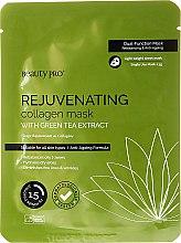 Düfte, Parfümerie und Kosmetik Verjüngende Tuchmaske mit Kollagen und Grüntee-Extrakt - BeautyPro Rejuvenating Collagen Mask
