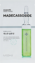Düfte, Parfümerie und Kosmetik Feuchtigkeitsspendende und energetisierende Tuchmaske für das Gesicht mit indischem Wassernabel - Missha Mascure Rescue Solution Sheet Mask Madecassoside