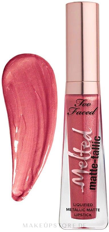 Flüssiger Lippenstift - Too Faced Melted Matte-Tallic Lipstick — Bild Breakup Makeup