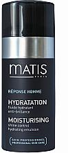 Feuchtigkeitsspendende Gesichtsemulsion für mattes Hautaussehen - Matis Reponse Homme Moisturising Shine Control Hydrating Emulsion — Bild N1