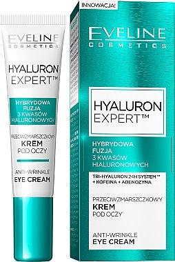 Anti-Falten Augencreme - Eveline Cosmetics Hyaluron Expert Anti-Wrinkle Eye Cream — Bild N1