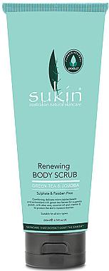 Erfrischendes Körperpeeling mit grünem Tee und Jojoba - Sukin Green Tea & Jojoba Renewing Body Scrub — Bild N1