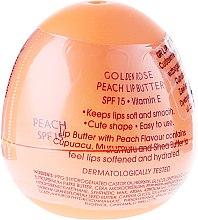 Düfte, Parfümerie und Kosmetik Lippenbutter Pfirsicharoma SPF 15 - Golden Rose Lip Butter SPF15 Peach