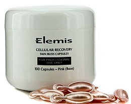 Düfte, Parfümerie und Kosmetik Zellregenerierende und antioxidative Gesichtskapseln mit Rose 100 St. - Elemis Cellular Recovery Skin Bliss Rose
