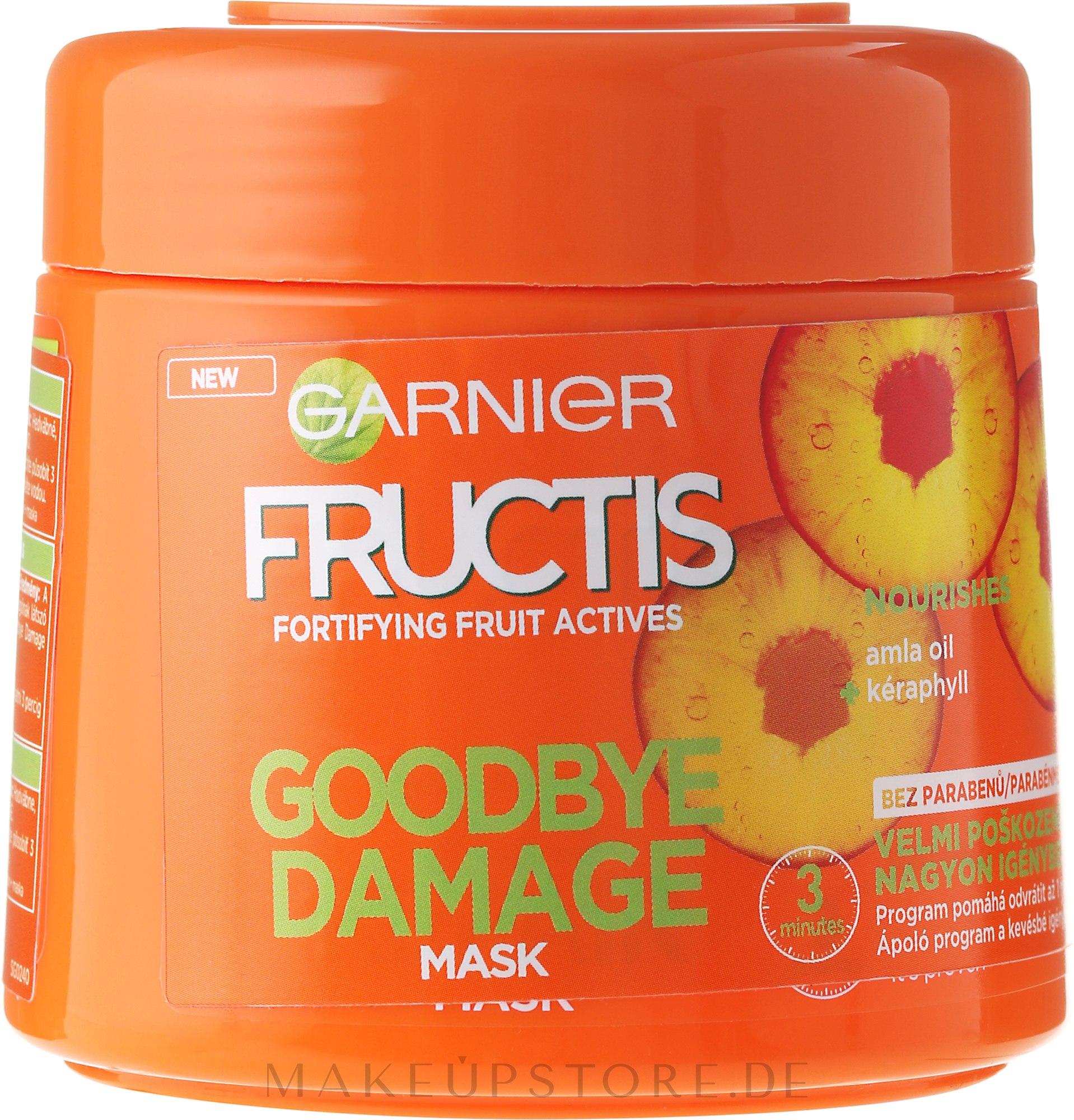 Haarmaske für geschädigtes Haar mit Amla-Öl und Keraphyll - Garnier Fructis Good Bye Damage Hair Mask — Bild 300 ml