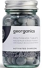 Düfte, Parfümerie und Kosmetik Mundwassertabletten mit Aktivkohle - Georganics Mouthwash Tablets Activated Charcoal
