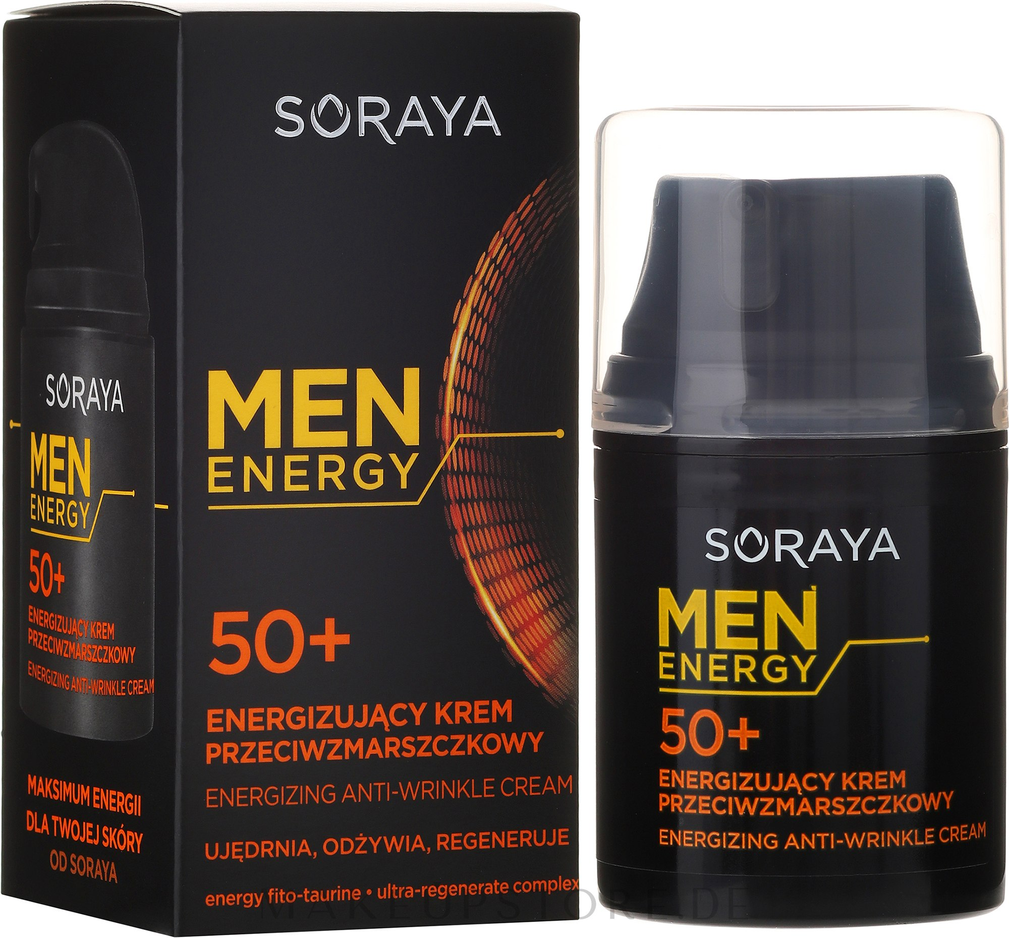 Pflegende und regenerierende Anti-Falten Gesichtscreme für Männer 50+ - Soraya Men Energy — Bild 50 ml