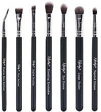 Düfte, Parfümerie und Kosmetik Make-up Pinselset 7-tlg. - Nanshy Eye Brush Set Onyx Black (Brush 7 St.)