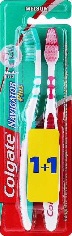 Zahnbürste mittel grün, rosa 2 St. - Colgate — Bild N1