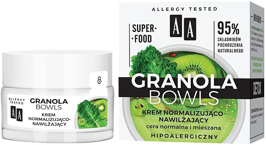 Normalisierende und feuchtigkeitsspendende Gesichtscreme - AA Granola Bowls
