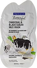 Düfte, Parfümerie und Kosmetik Reinigende Gesichtsschlammmaske mit Aktivkohle und schwarzem Zucker - Freeman Feeling Beautiful Charcoal & Black Sugar Mud Mask (Mini)