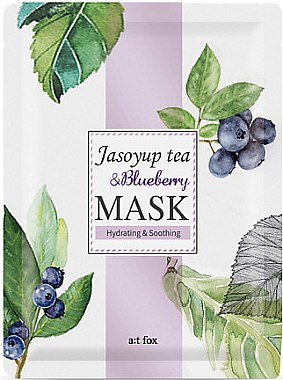 Feuchtigkeitsspendende und beruhigende Gesichtsmaske - A:t fox Jasoyup Tea & Blueberry Mask — Bild N1