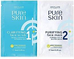 Düfte, Parfümerie und Kosmetik Tiefes Gesichtspeeling mit Salicylsäure und Granatapfelextrakt - Oriflame Pure Skin Face Scrub & Mask