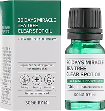 Düfte, Parfümerie und Kosmetik Gesichtsöl für gereizte Haut mit Teebaum - Some By Mi 30 Days Miracle Tea Tree Clear Spot Oil