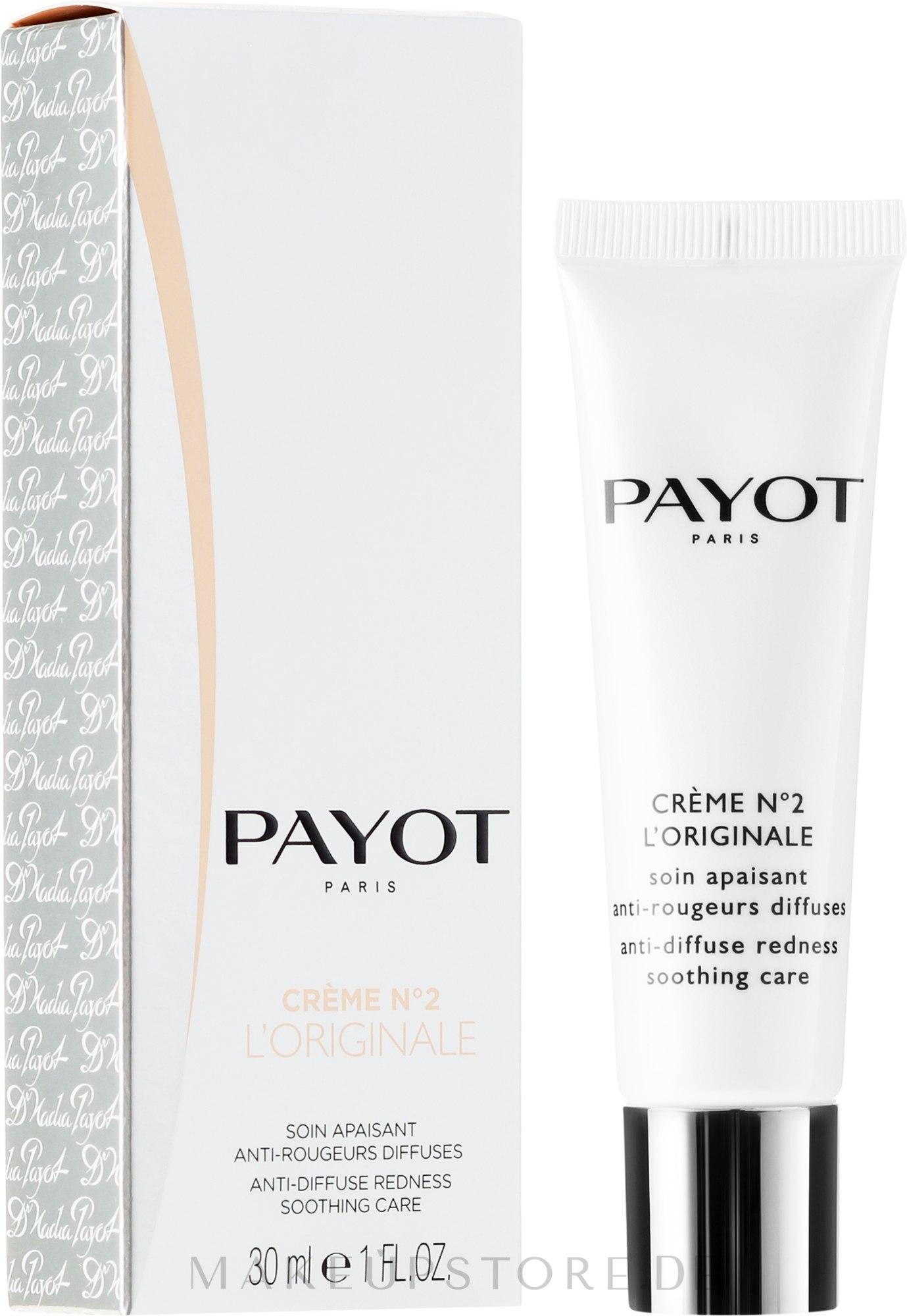 Beruhigende Gesichtscreme gegen diffuse Rötungen - Payot Creme N°2 L'Originale — Bild 30 ml