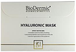 Düfte, Parfümerie und Kosmetik Intensiv nährende, regenerierende und feuchtigkeitsspendende Tuchmaske mit Hyaluronsäure - Biodermic Hyaluronic Mask