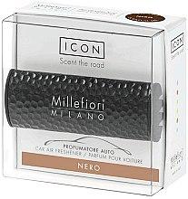 Düfte, Parfümerie und Kosmetik Auto-Lufterfrischer Nero - Millefiori Car Air Freshener Nero Icon Metall Shades Line