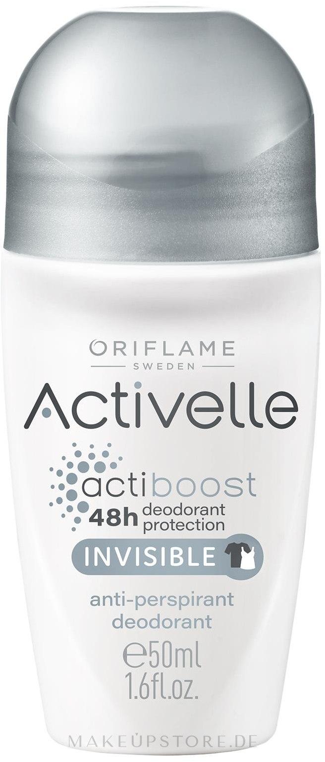 Deo Roll-on Antitranspirant - Oriflame Activelle Actiboost Invisible — Bild 50 ml