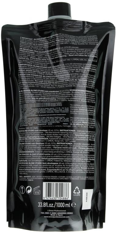 Spezial Entwickler für blondierte Haare 12% - L'Oreal Professionnel Blond Studio Creamy Nutri-Developer Vol.40 — Bild N2