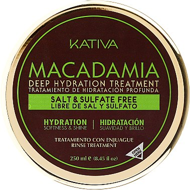 Intensiv feuchtigkeitsspendende Maske für normales und strapaziertes Haar - Kativa Macadamia Deep Hydrating Treatment — Bild N4