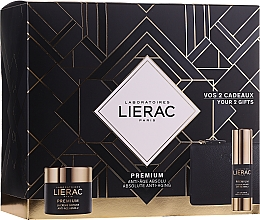 Düfte, Parfümerie und Kosmetik Gesichtspflegeset - Lierac Premium Soyeuse (Creme für die Augenkontur 15ml + Gesichtscreme 50ml + Kosmetiktasche)