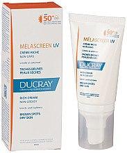 Düfte, Parfümerie und Kosmetik Reichhaltige Sonnenschutzcreme gegen Pigmentflecken für trockene Gesichtshaut SPF 50+ - Ducray Melascreen UV Rich Cream SPF 50+