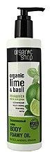 Düfte, Parfümerie und Kosmetik Schäumendes Duschöl mit Bio Limettenöl und Basilikum-Extrakt - Organic shop Body Foam Oil Organic Lime and Basil