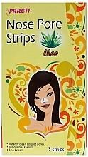 Düfte, Parfümerie und Kosmetik Nasenporenstreifen gegen Mitesser mit Aloe - Prreti Nose Pore Strips Aloe