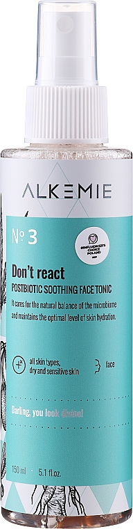 Beruhigendes Gesichtstonikum - Alkemie Microbiome Dont React Face Tonic