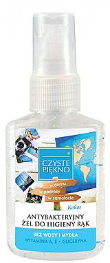 Antibakterielles Handgel mit Kokosduft - Czyste Piekno Antibacterial Hand Gel — Bild N1