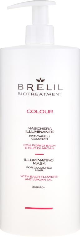 Maske für coloriertes Haar mit Bach-Blüten und Arganöl - Brelil Bio Treatment Colour Illuminating Mask — Bild N1