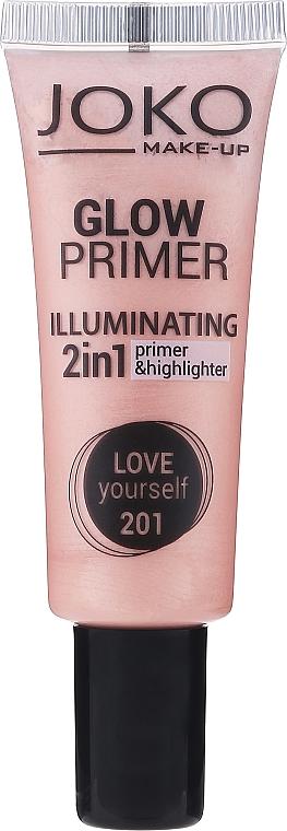 2in1 Make-up Base und Highlighter - Joko 2in1 Glow Primer — Bild N1