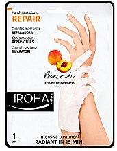 Düfte, Parfümerie und Kosmetik Hand- und Nagelmaske - Iroha Nature Repair Peach Hand Mask Gloves