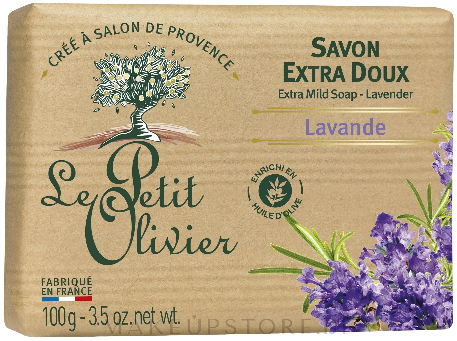 Milde Seife mit Lavendelextrakt - Le Petit Olivier Extra mild soap Lavender — Bild 100 g